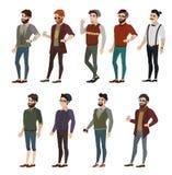 Fashionable boy hipster vector illustration