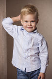 Fashion Boy Portrait in shirt Stock Photo