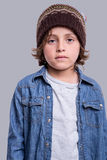 Fashion boy posing Stock Image