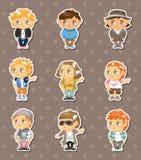Fashion boy stickers Royalty Free Stock Photo