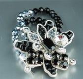 Fashion bracelet on black Royalty Free Stock Photography
