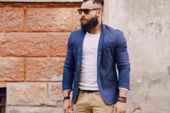 Fashion brard man Stock Images