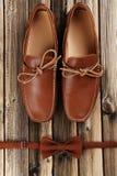 Fashion brown shoes Stock Photos