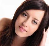 Fashion brunette girl Stock Images