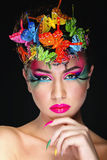 Fashion Brunette Model Portrait Stock Photo