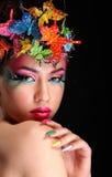 Fashion Brunette Model Portrait Stock Photos