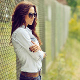 Fashion brunette woman Royalty Free Stock Photo