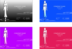 Fashion business cards Royalty Free Stock Photos