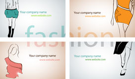 Fashion business cards Stock Photography