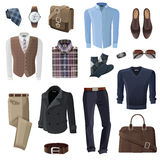 Fashion Business Man Accessories Set Stock Photos