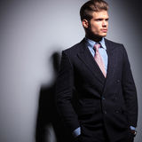 Fashion business man looking away Royalty Free Stock Photo