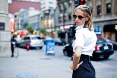 Fashion Businesswomen downtown Stock Photos