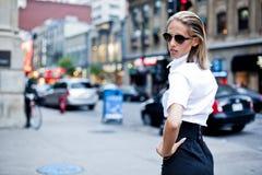 Fashion Businesswomen Downtown Stock Photos