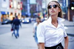 Fashion Businesswomen In The City Royalty Free Stock Images