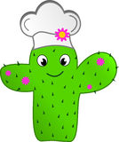 Fashion cactus chef Stock Photography