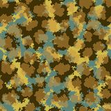 Fashion camo. Colorful camouflage vector pattern. Seamless fabric design stock illustration