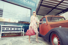 Fashion with car Stock Images