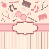 Fashion card  background Royalty Free Stock Photos