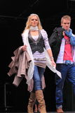 Fashion on the catwalk Stock Photos