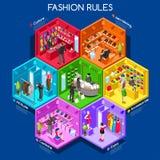 Fashion 01 Cells Isometric Royalty Free Stock Photo