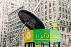 The fashion center information kiosk in NYC Stock Image