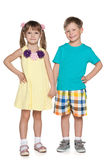 Fashion cheerful little kids Royalty Free Stock Image