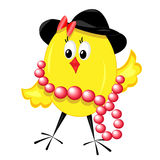 Fashion chicken. chic isolated illustration. None background Stock Photo