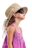 Fashion child black sunglasses portrait Stock Images