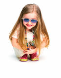 Fashion child girl full body Stock Images