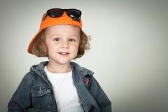 Fashion child. Happy boy model. Royalty Free Stock Photo