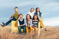 Free Fashion Children In Autumn Field Royalty Free Stock Photos - 78191518