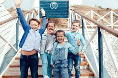 Free Fashion Children On The Sea Shore Stock Images - 78188764