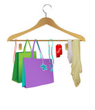 Fashion cloth hanger. A vector illustration of a fashion cloth hanger Royalty Free Stock Photography