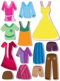 Fashion Cloth Set_eps. Illustration of design cloth, dress etc. set on white background Stock Photography