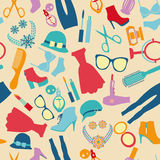 Fashion and clothes accessories seamless pattern Royalty Free Stock Photography