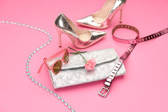 Fashion. Clothes Accessories Set. Outfit. Minimal Royalty Free Stock Photography