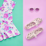 Fashion. Clothes Accessories Set. Outfit. Minimal Stock Image