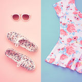 Fashion. Clothes Accessories Set. Outfit. Minimal Stock Images