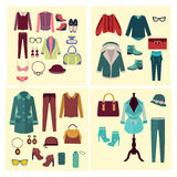 Fashion Clothes And Accessories For Women Royalty Free Stock Photos