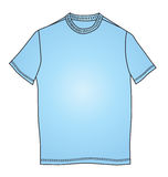 Fashion clothes blue t-shirt shape illustration Stock Images