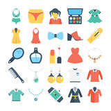 Fashion and Clothes Colored Vector Icons 3 Stock Photo