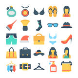 Fashion and Clothes Colored Vector Icons 8 Royalty Free Stock Photo