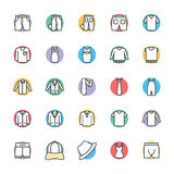 Fashion and Clothes Cool Vector Icons 8 Royalty Free Stock Photography