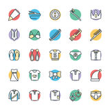 Fashion and Clothes Cool Vector Icons 6 Royalty Free Stock Image