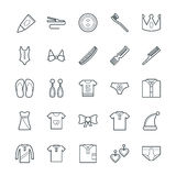 Fashion and Clothes Cool Vector Icons 6 Stock Photos