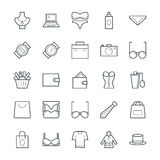 Fashion and Clothes Cool Vector Icons 1 Royalty Free Stock Photos