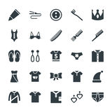 Fashion and Clothes Cool Vector Icons 6 Stock Images
