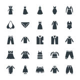 Fashion and Clothes Cool Vector Icons 9 Royalty Free Stock Photo