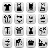 Fashion clothes  icons Royalty Free Stock Photos