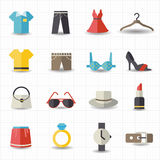Fashion and clothes icons Royalty Free Stock Image